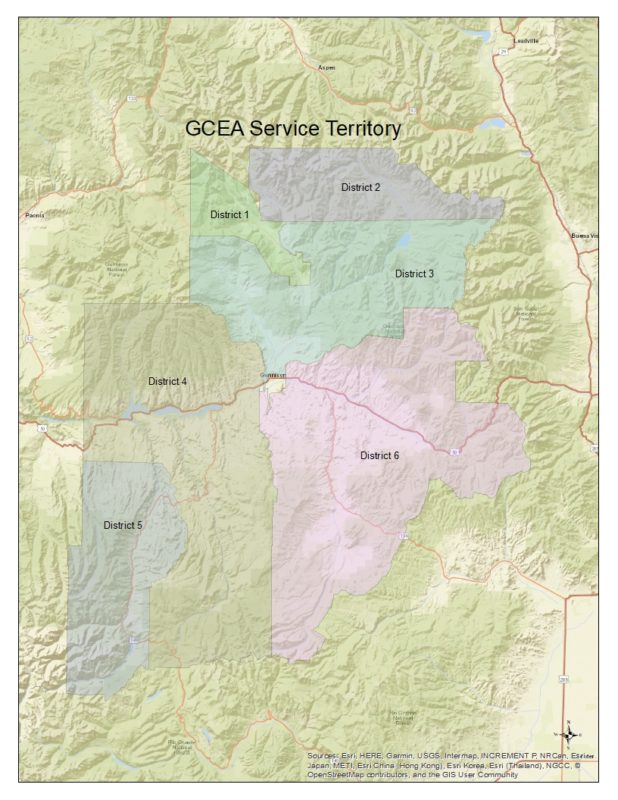 Board District Service territory map